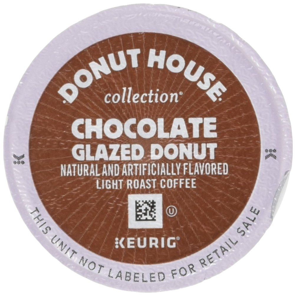 Donut House Collection Coffee Chocolate Glazed Donut Keurig Single-Serve K-Cup Pods, Light Roast Coffee,  24 Count