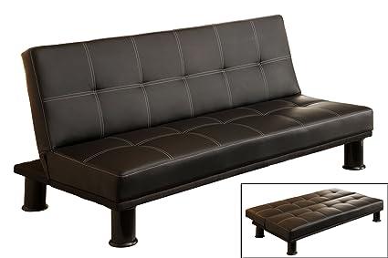 amazon com marlon black futon sofa kitchen dining rh amazon com black leather futon sofa bed black friday sofa futon