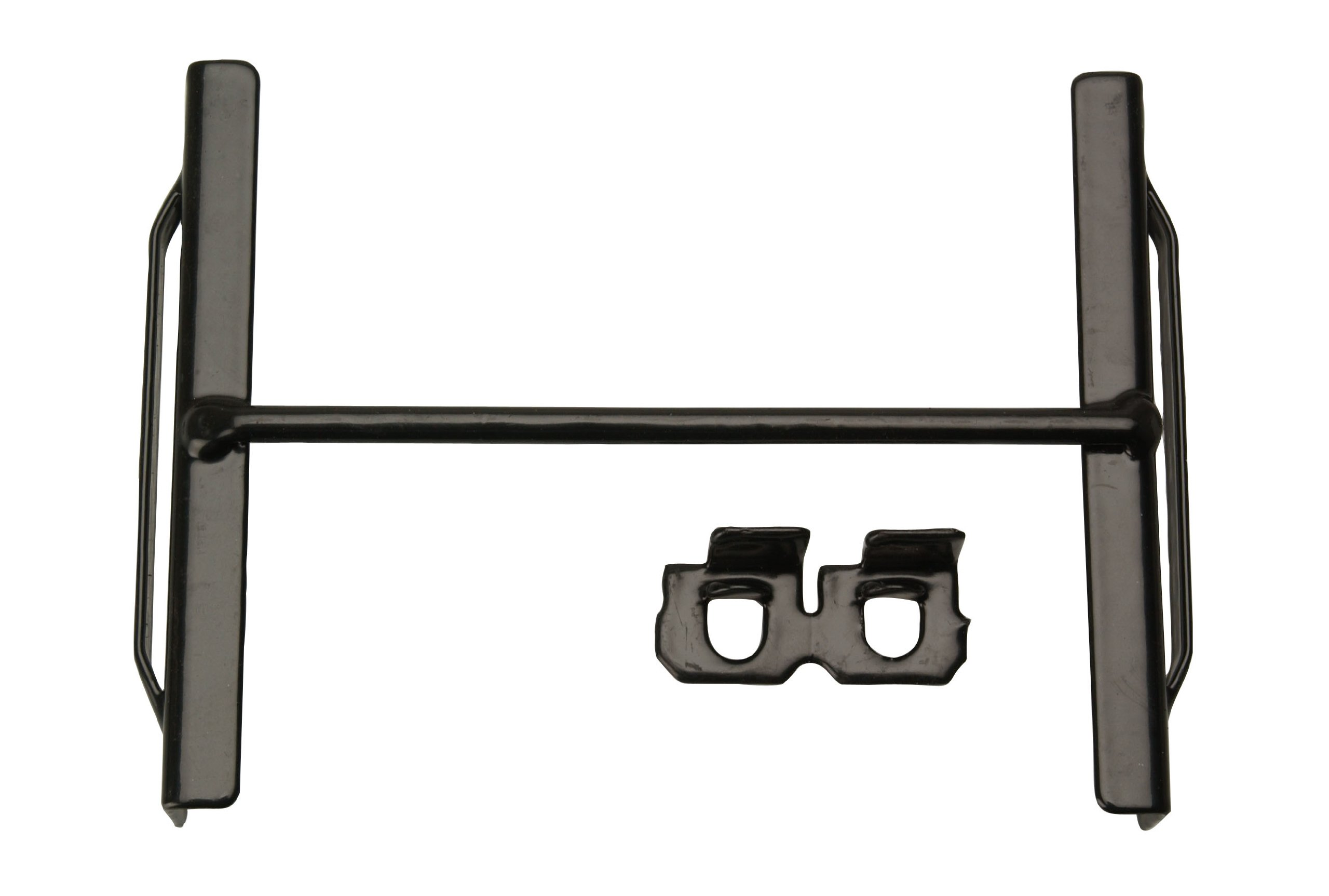 Road Power 0975 6.8-Inch Universal Cross Bar Battery hold down, Black