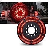 Lumenix Spare Tire Brake Light LED 3rd Brake Light Wheel Light Third Rear Lamp for Jeep Wrangler 2007-2018 JK & Unlimited and