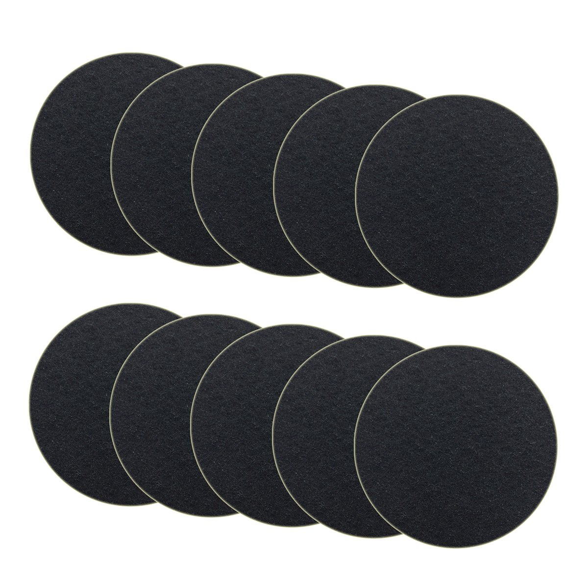 10-Pack Charcoal Filter for Kitchen Compost Bin Filters Replacement Compost Pail Bucket Refill 7.25 inch, Round