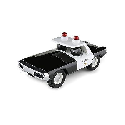 Playforever Maverick Heat - Black/White Sheriff Car: Toys & Games