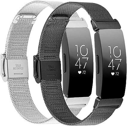 Ersatz Edelstahl Metall Armband für Fitbit Inspire//Inspire HR