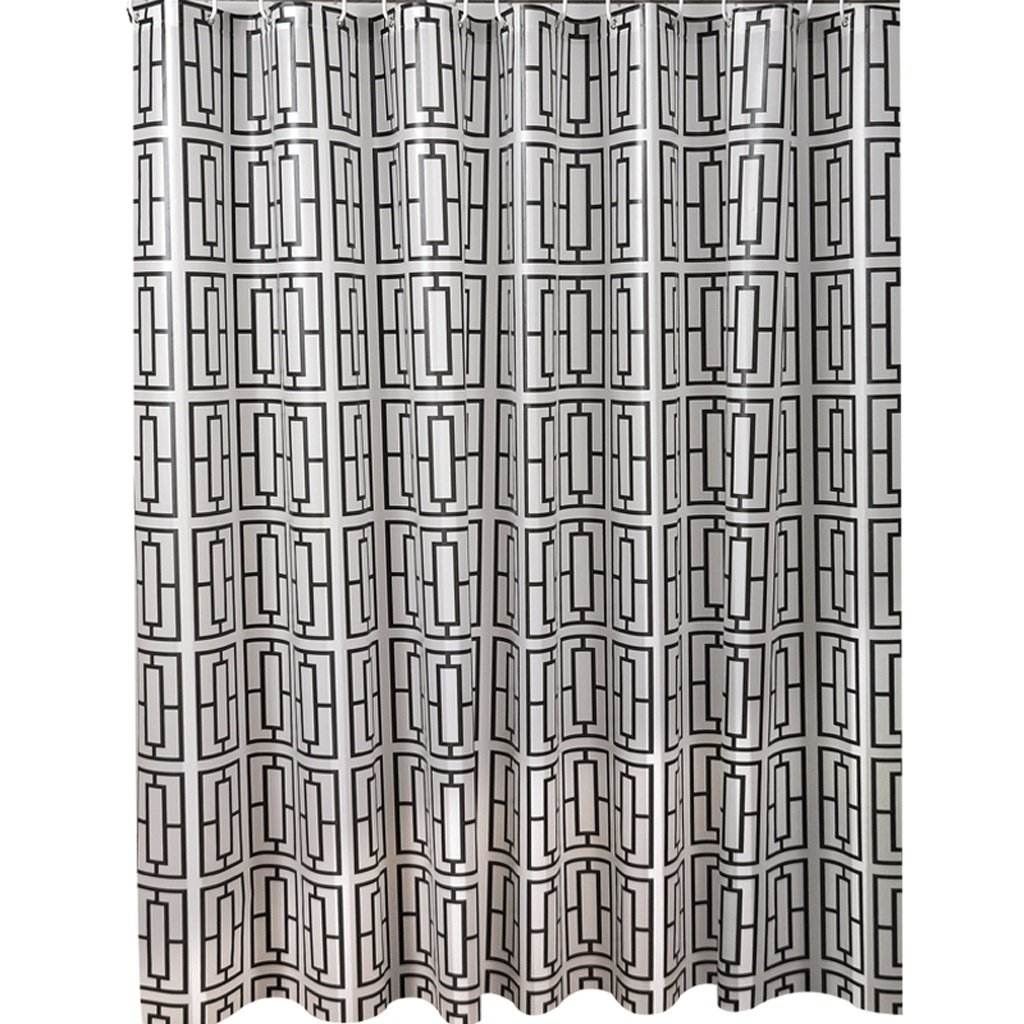 Curtain Mouldproof Waterproof Shower Curtain, Partition Bathroom Insulation Curtain, PEVA Thickened Fabric,Send Hanging Ring Shower Equipment (Size : 200180cm)