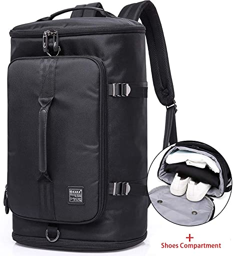 Outdoor Gym Travel Duffel Bag Backpack With Shoe Compartment For Men And Women