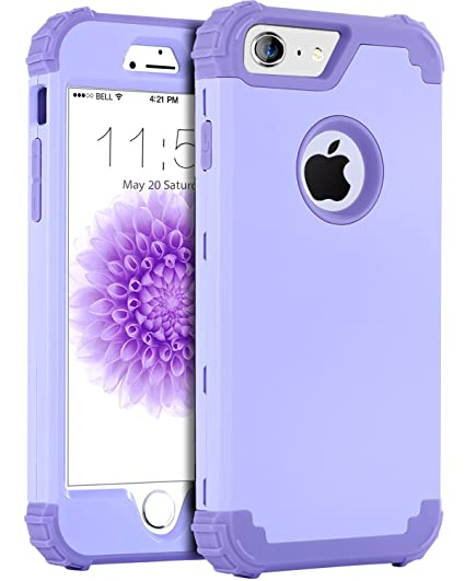 pretty nice 02bf8 245a8 iPhone 6S Plus Case, iPhone 6 Plus Case, BENTOBEN Anti-Scratch Non-Slip 3  in 1 Hybrid Heavy Duty Rugged Hard PC Shockproof Silicone Bumper Protective  ...
