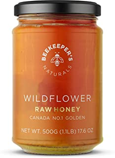 product image for BEEKEEPER'S NATURALS Wildflower Honey - Raw, Wildcrafted, and Unprocessed- Rich in Nutrients and Beneficial Enzymes- Notes of Mint & Lavender-100% Raw, Pure Honey- Paleo-friendly, Gluten-Free (1.1lbs)