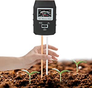 Mosthink Soil Moisture Meter, 3-in-1 Moisture ph Light Tester, Plant Water Soil Monitor Testing Tool Kit for Garden, Lawn, Farm,Indoor/Outdoor (No Battery Needed)