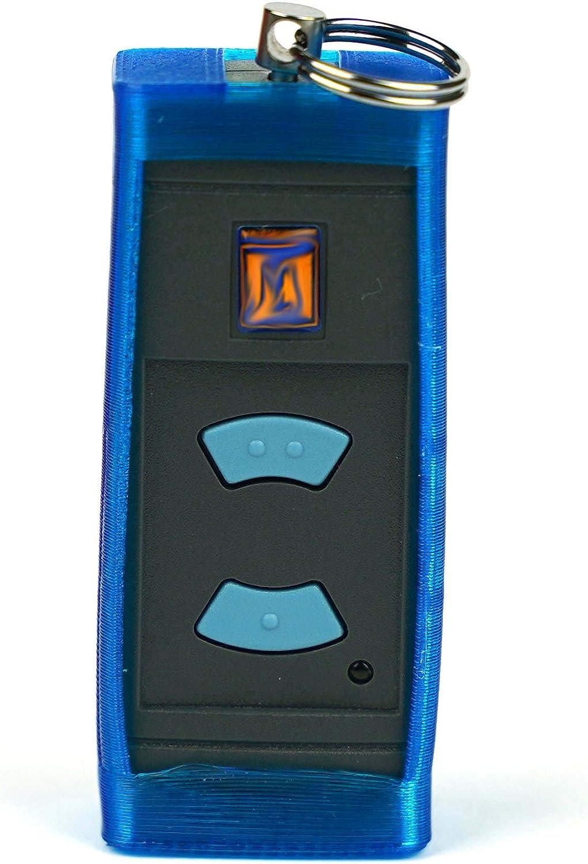estuche protector adecuado para el transmisor de mano H/örmann HSE2 con 40.685 MHz, azul Funda