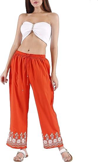 Sach K Pantalon De Mujer Con Bordado Playa Naranja Amazon Com Mx Ropa Zapatos Y Accesorios