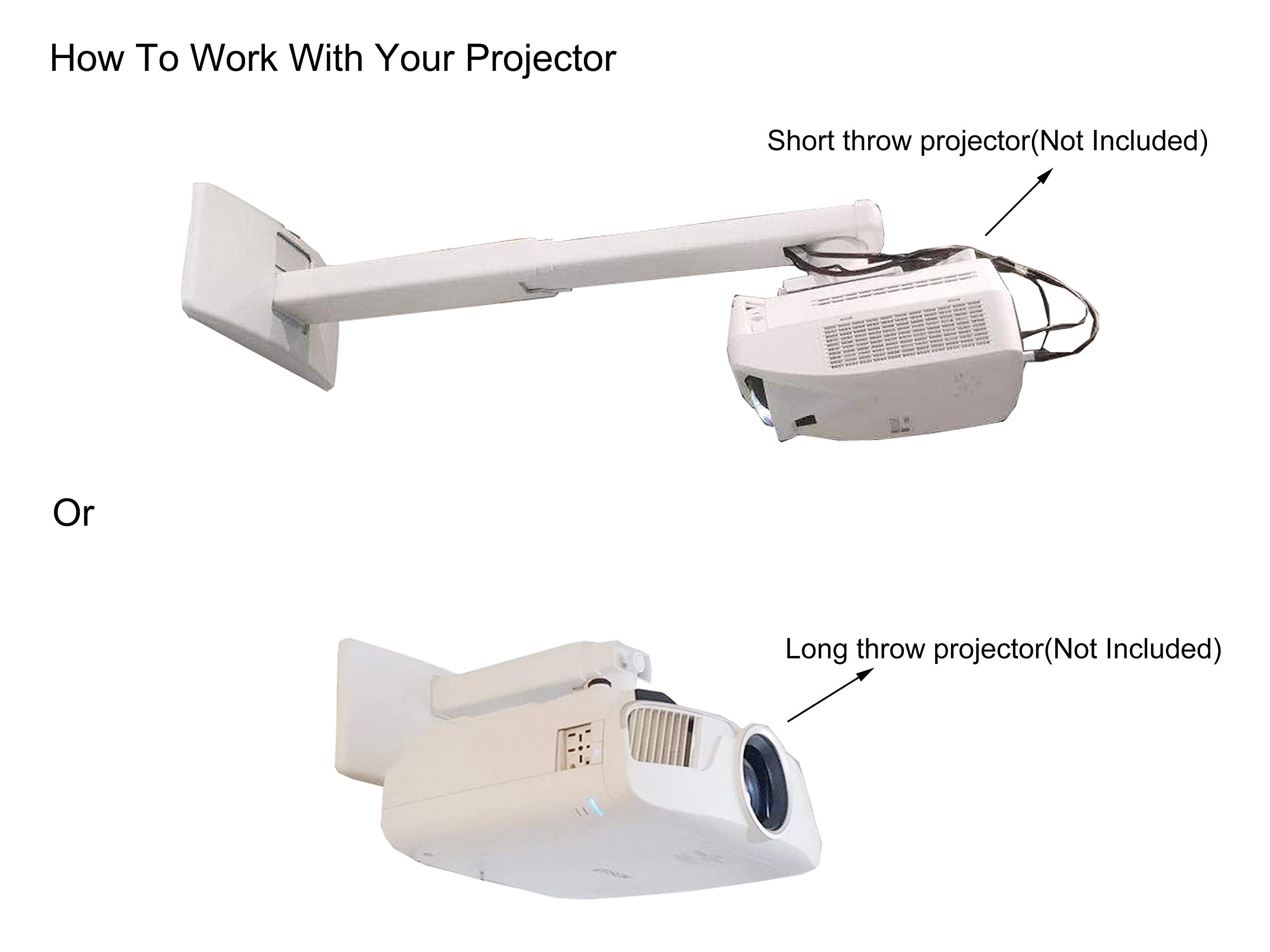 Viewtech Universal Short Throw Projector Wall Mount Fully Adjustable:19.5''-49'' by Viewtech (Image #4)