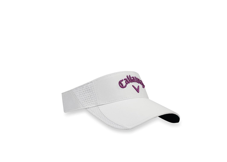 ba310ff2 Callaway Men's SportLite Visor Caps, White/Purple, One Size: Amazon.co.uk:  Sports & Outdoors
