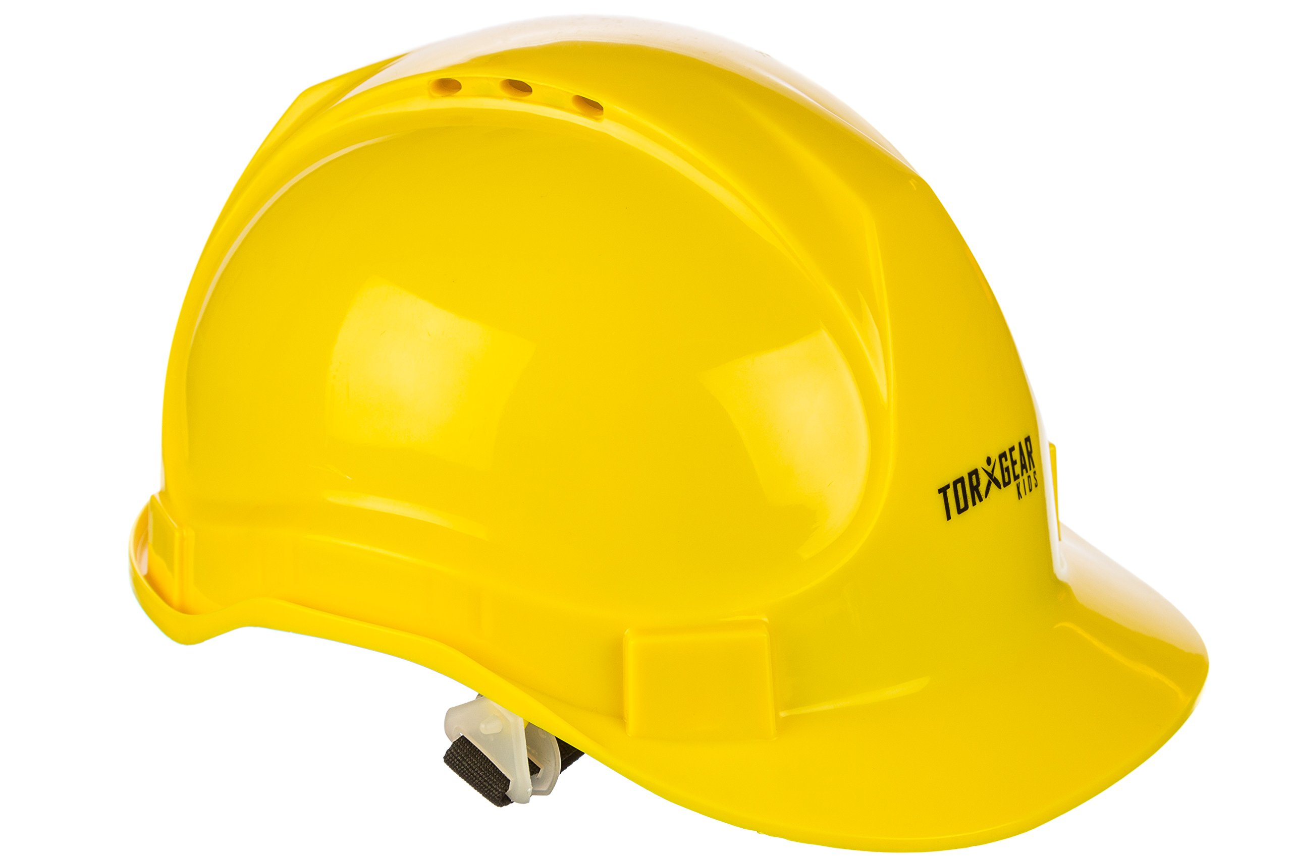 Child Hard Hat - Ages 2 to 6 - Kids Yellow Safety Construction Helmet Costume