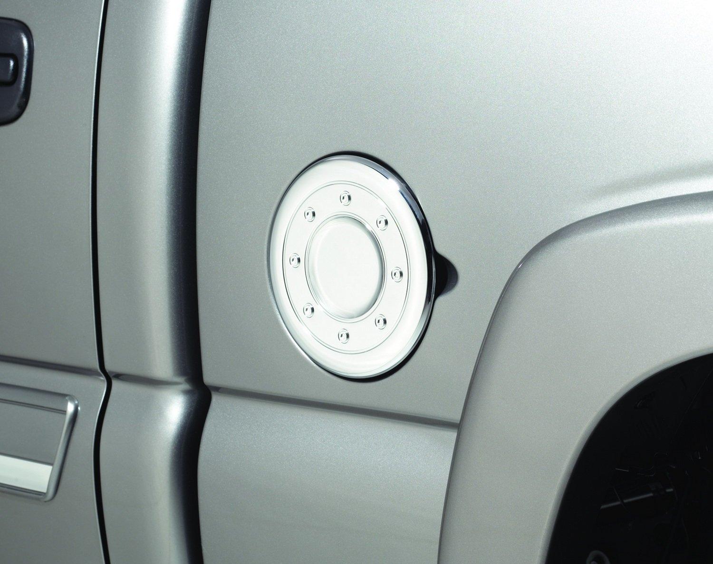 Auto Ventshade 688773 Chrome Fuel Door Cover for 1999-2007 Silverado /& Sierra 1500 Yukon 2000-2006 Tahoe 2002-2006 Escalade /& Avalanche Suburban