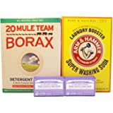 Laundry Soap Kit - Dr Bronner, Borax & Washing Soda (Pure Castille Lavender)