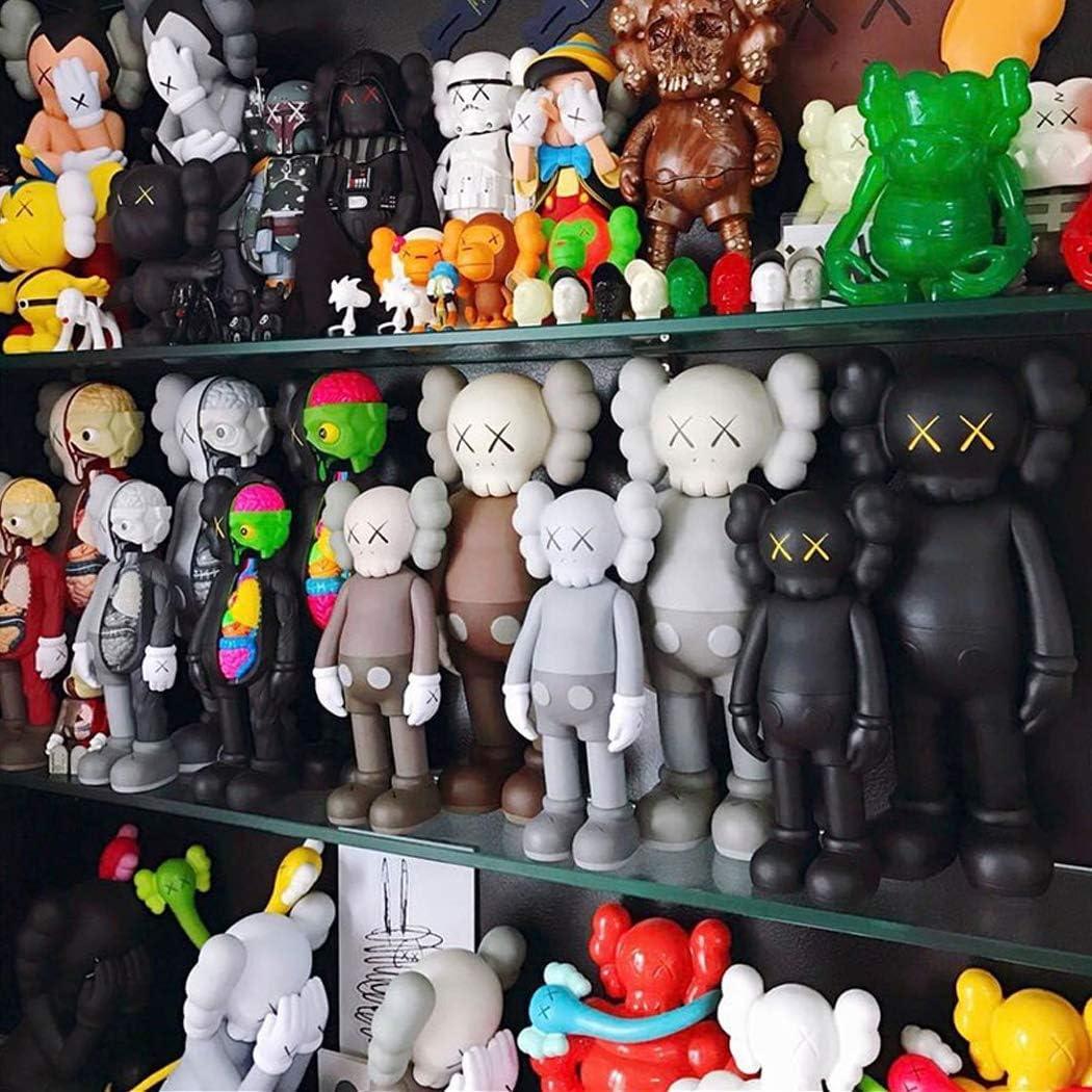 LIN-DOLLS for KAWS Anatomie Puppe Handgefertigte Modell Puppe Spielzeug Trend Peripheral Original-Desktop-Dekoration 8 Zoll Color : Black, Size : High 20cm