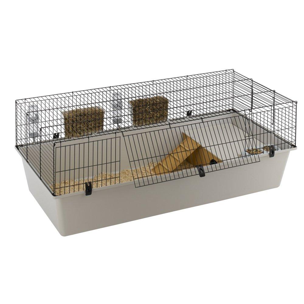 156.5 x 77 x 61.5 cm Ferplast Rabbit 160 Cage, 156.5 x 77 x 61.5 cm, Black