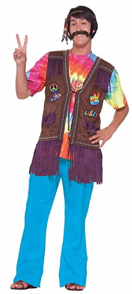 Amazon.com: Hippie Chaleco con Embroider Parches Hippie ...