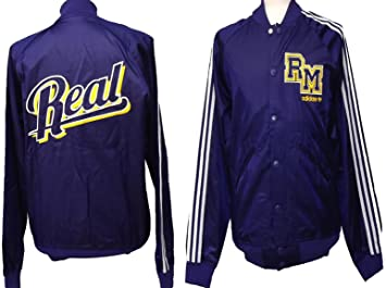 promo code 9d2cd 515d0 Real Madrid Adidas Originals Retro Letterman Jacket: Amazon ...