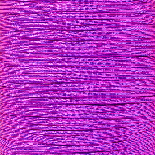 PARACORD PLANET 10 20 25 50 100 Foot Hanks and 250 1000 Foot Spools of Parachute 550 Cord Type III 7 Strand Paracord (Electric Blue w/Neon Pink Stripes 100 Feet)
