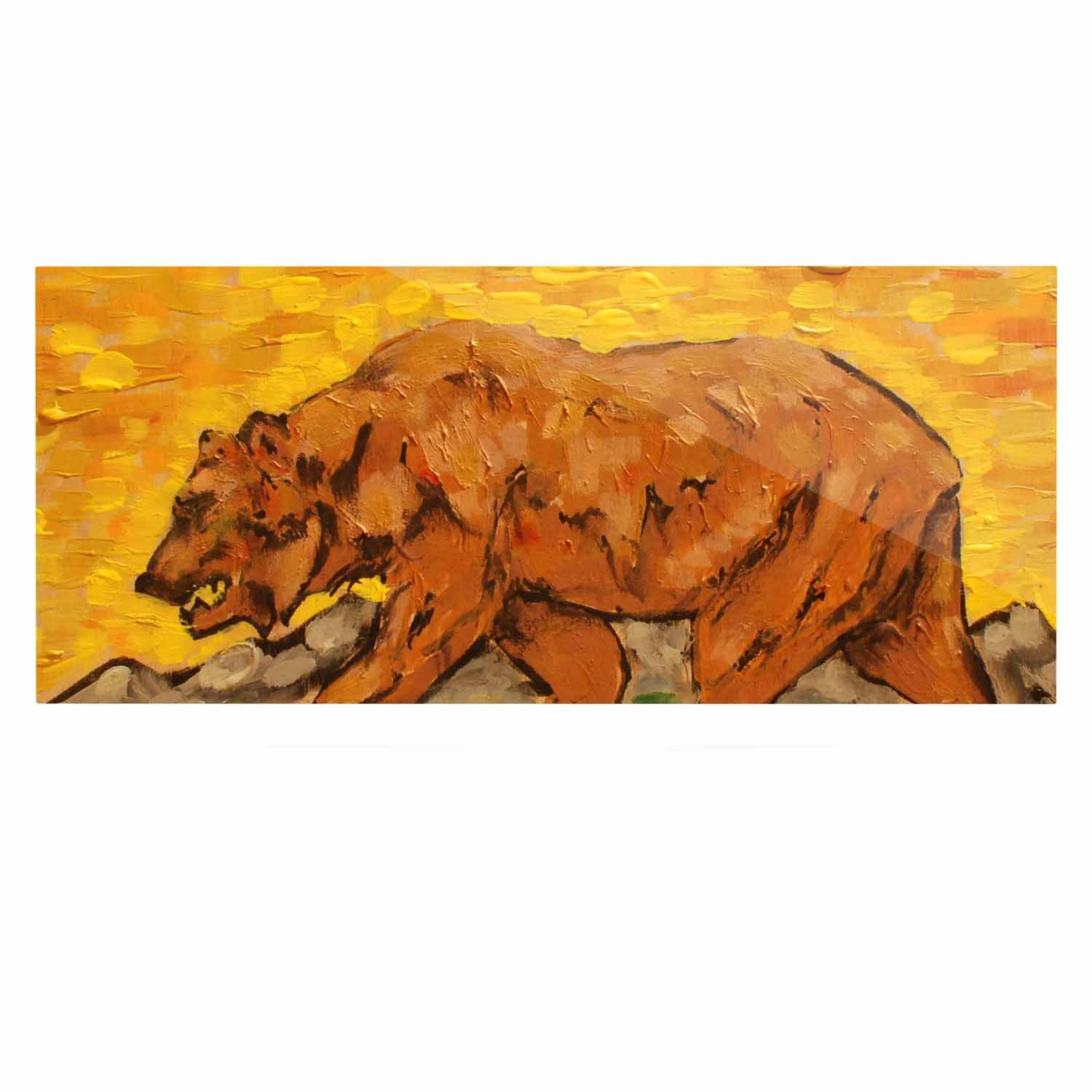 Kess InHouse Nathan Gibbs Art for A Public Bear Blue Red Luxe Rectangle Panel 24 x 36