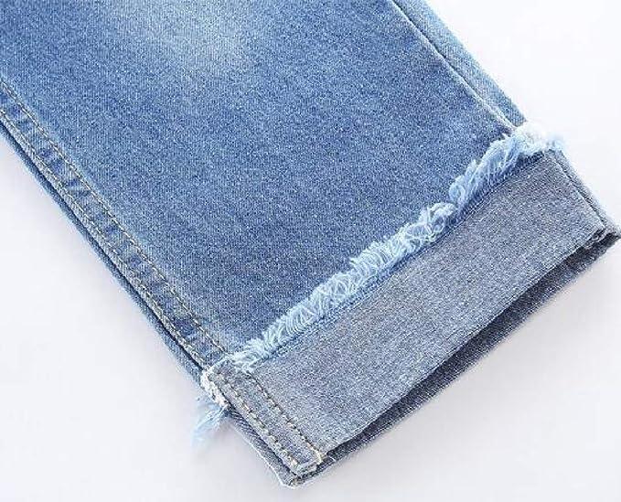 Joe Wenko Little Boys Hole Jeans Fashion Denim Elastic Waist Pants