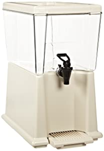 Rubbermaid Commercial CLR 3-Gallon Capacity, Clear Polypropylene Beverage Dispenser (FG335800CLR)
