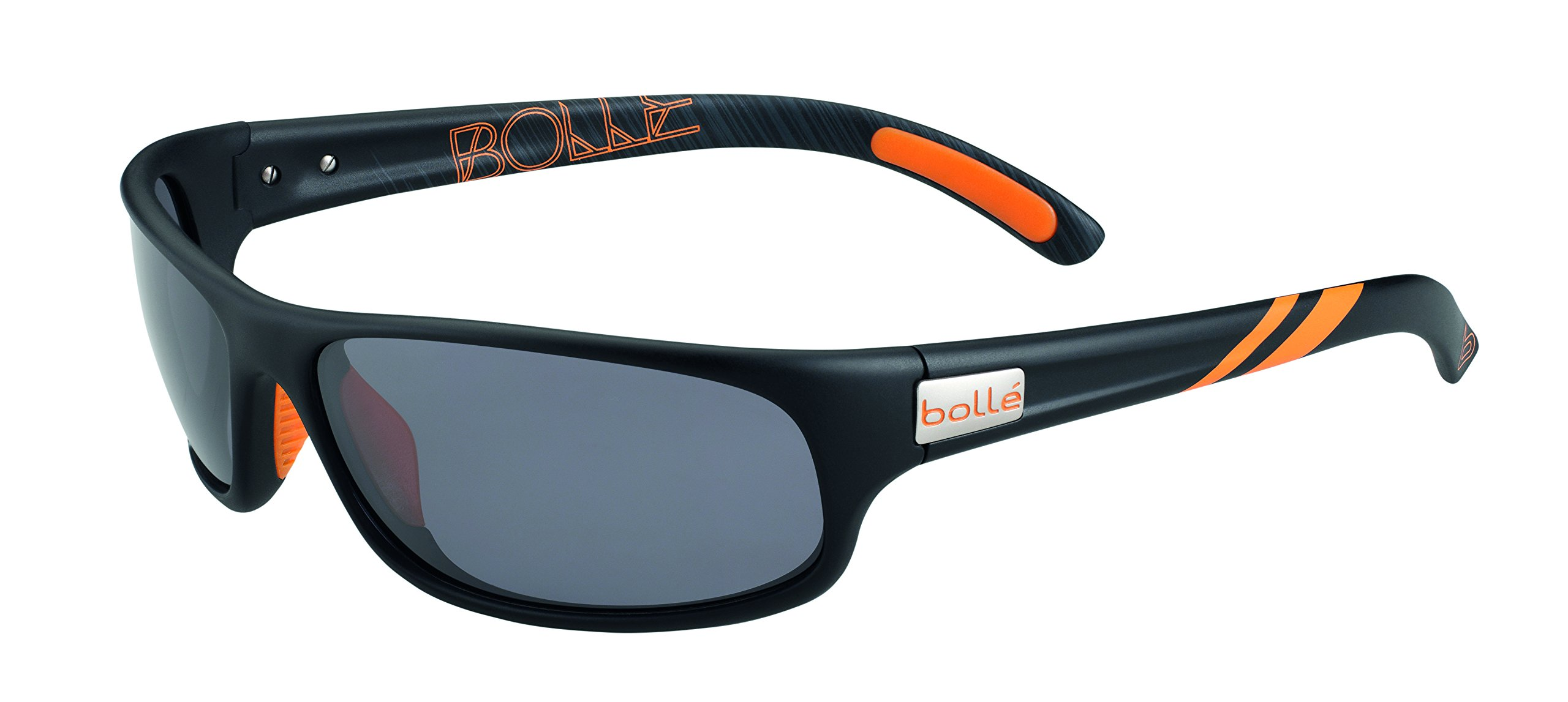 Bolle Anaconda Sunglasses Matt Black/Orange, Smoke by Bolle