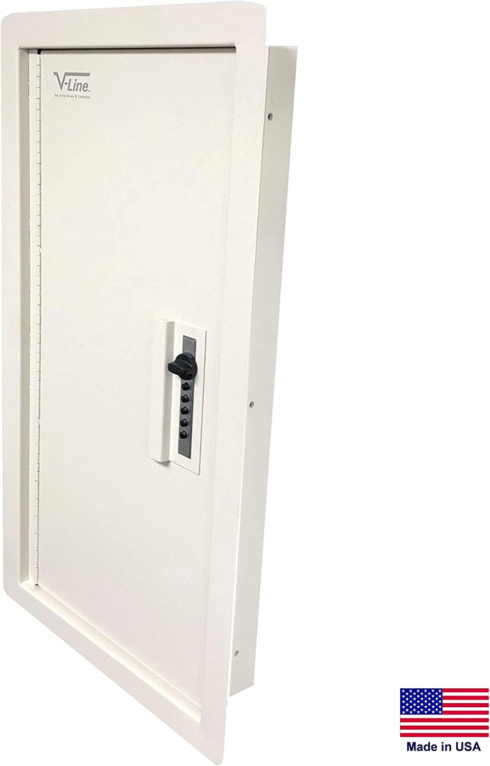 "V-Line Quick Vault XL Locking Storage for Guns & Valuables, Ivory Durable Textured Powder Coat, 14"" W x 28"" H x 4"" D"