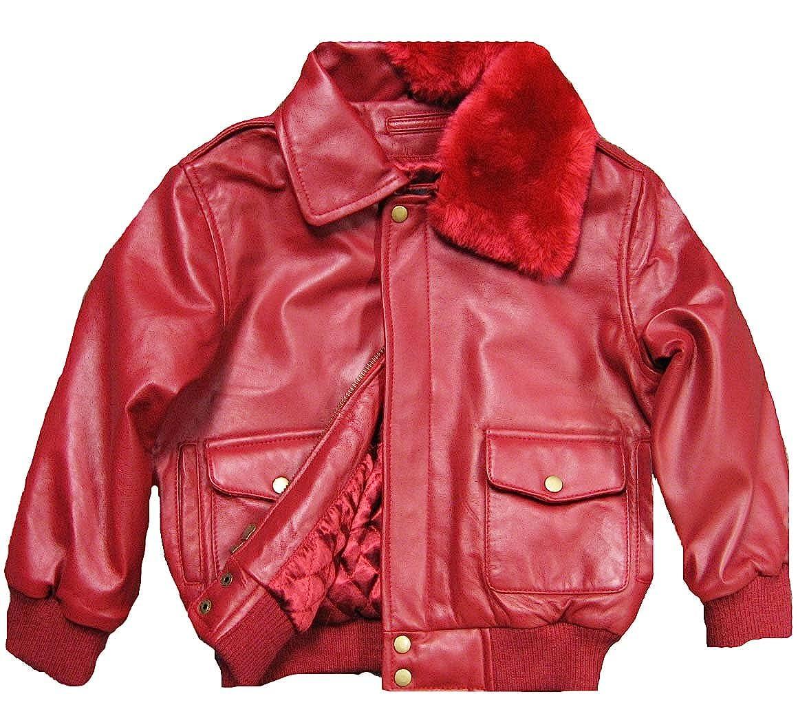 7d122832b Amazon.com  Childrens Genuine Lambskin Leather Bomber Pilot Jacket ...