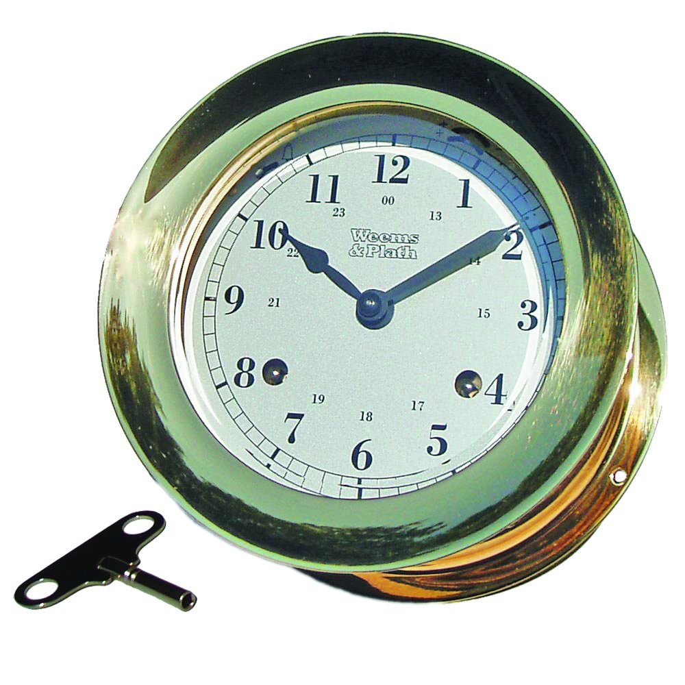 Weems & Plath Atlantis Collection 8-Day Wind Ship's Bell Clock (Brass)