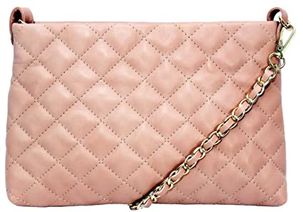 488b4ac2635f Image Unavailable. Image not available for. Colour  Handbag Bliss Italian  Leather Quilted Designer Inspired Classic Clutch Shoulder   Cross body ...