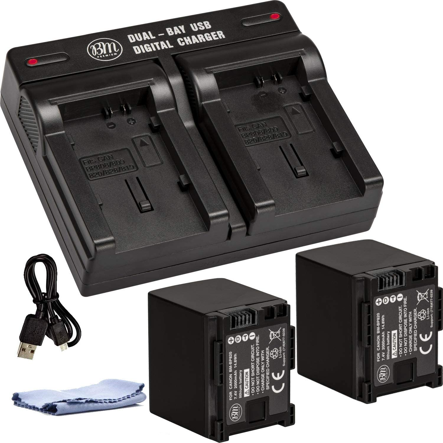 BM 2 BP-820 Batteries and Dual Battery Charger for Canon VIXIA HF G50, HF G60, XA40, XA45, XA50, XA55, GX10, HFG20, HF G21, HFG30, HFG40, HFM301, HFM41, HFM400, XA10 XA11 XA15 XA20 XA25 XF400 XF405 : Camera & Photo