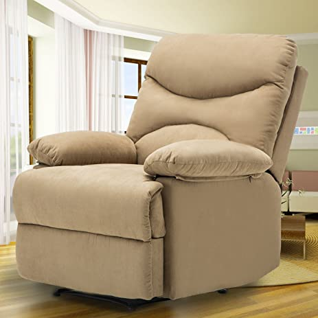 msg microfiber recliner sofa chair ergonomic lounge heated wcontrol brown