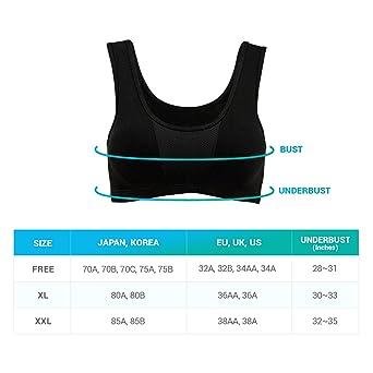 5fefdca51f CLIVIA Padded Yoga Sports Bra - Wirefree Removable Pad (Black