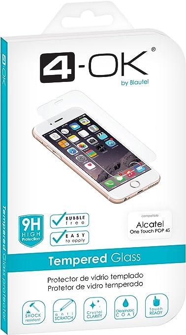 4-OK Glass Pro - Protector de Pantalla para Alcatel Pop 4S: Amazon.es: Electrónica
