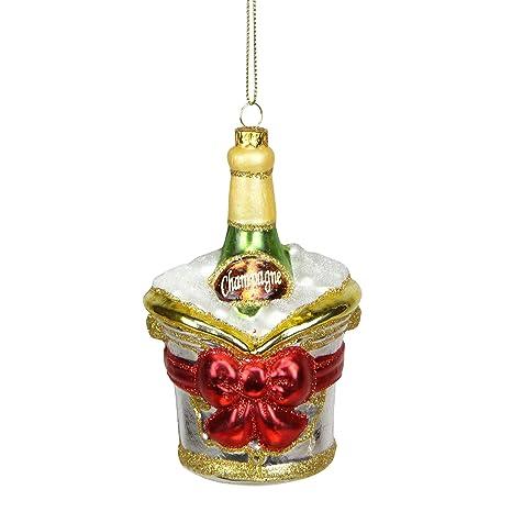 Northlight Cristal Botella de champán en Cubo de Hielo ...