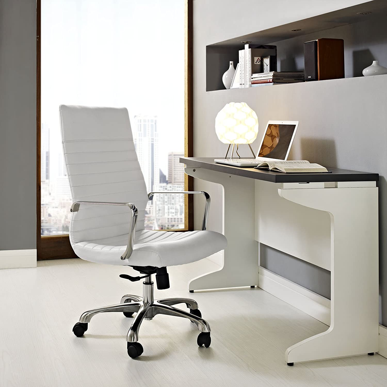 Amazon Modway Finesse Highback fice Chair White Kitchen