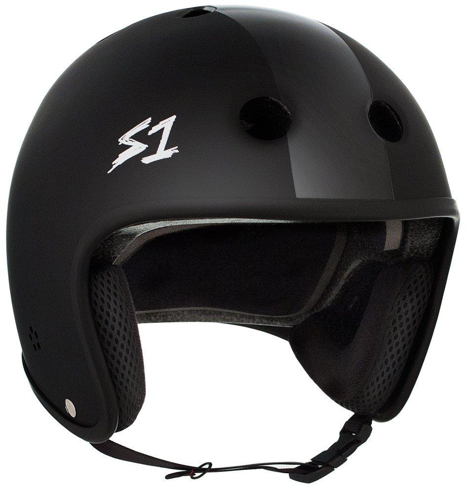 S-ONE Retro Lifer CPSC - Multi-Impact Helmet -Black Matte w/Black Stripes - XXX-Large (23.5'')