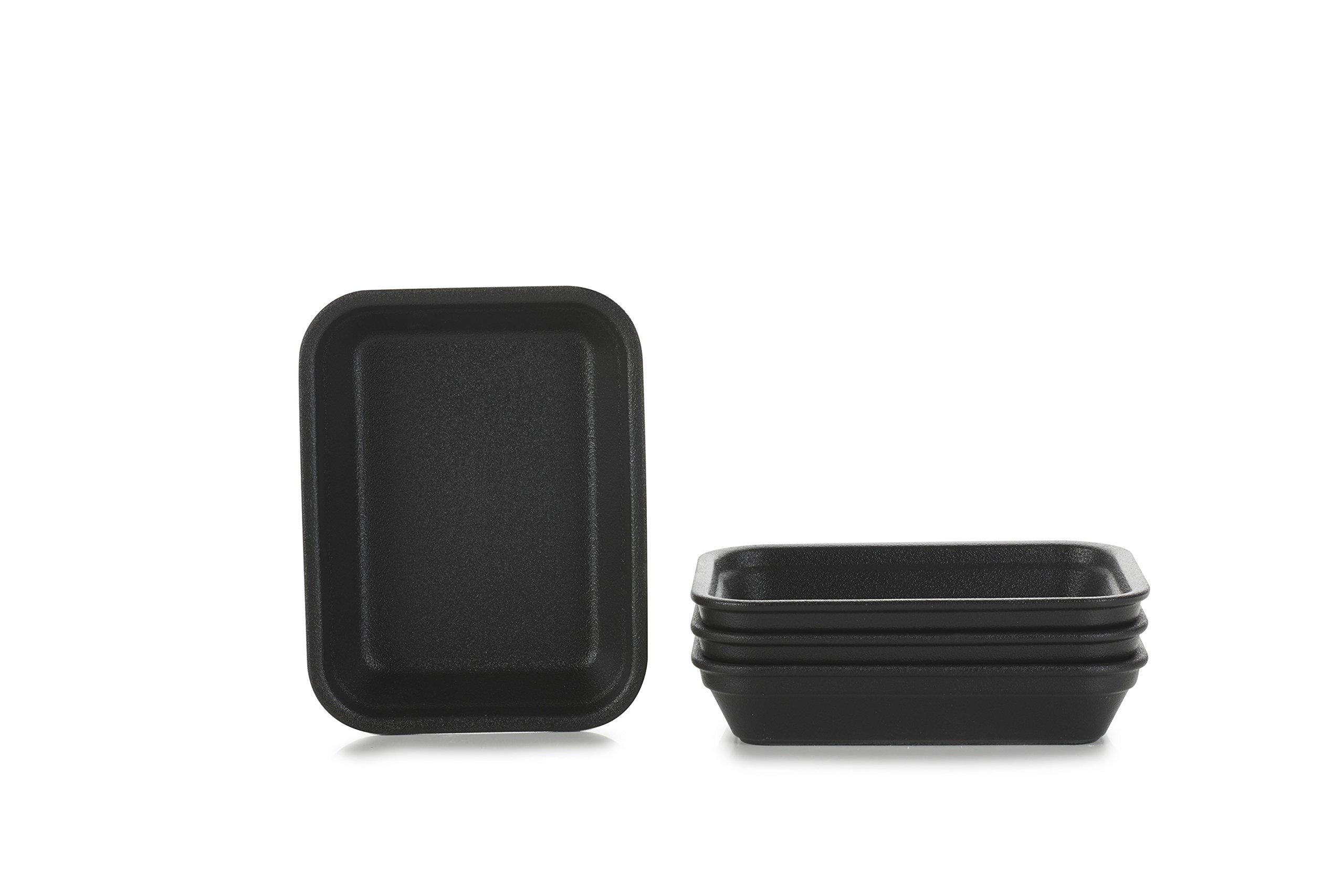 REVOL 651878/4 RPL1216N Set of 4 Rectangular Dishes, 10.5Oz, Cast Iron Style