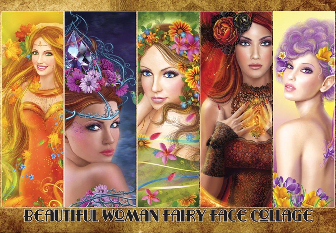 puzzlekorea 1000pieceジグソーパズルBeautiful Fairy面 Woman Fairy面 Woman B0792NS727 B0792NS727, ヨコハマトナー:51fcda53 --- ero-shop-kupidon.ru