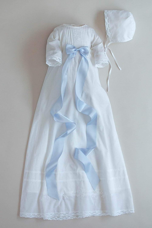 /ÓLI PRIK COPENHAGEN Baby Taufschleife BF1 Blue Bell in guter Satinqualit/ät F/ür das Taufkleid und Taufkleidung