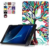 Cover for Tab A 10.1 SM-T580- Slim PU Leather Tri-Fold Stand Folding Cover Case for for Samsung Galaxy Tab A 10.1 (2016) SM-T585 SM-T580 Tablet