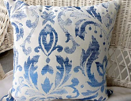 Andrea1Oliver Ikat Tapestry Pillow Covers Tela Richloom Azul
