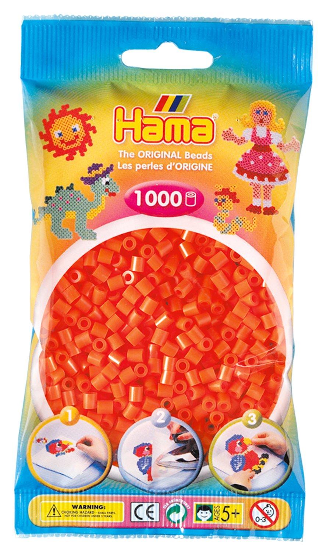 Creativsets Neion Orange 1000 Perlen Fein Verarbeitet Hama Bügelperlen Midi Bügelperlen