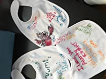 Bibs decorated at baby shower!!
