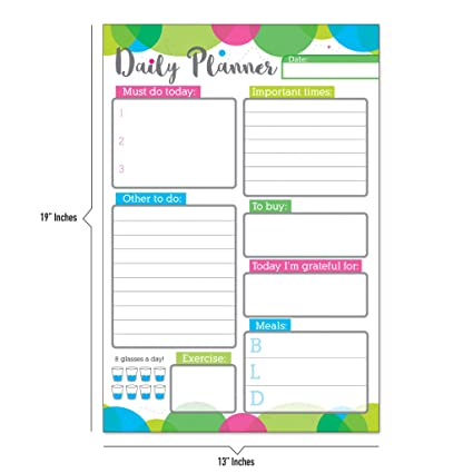 amazon com daily planner by business basics daily schedule to do