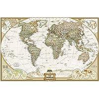 World Executive, Laminated: Wall Maps World: Laminated Executive Line