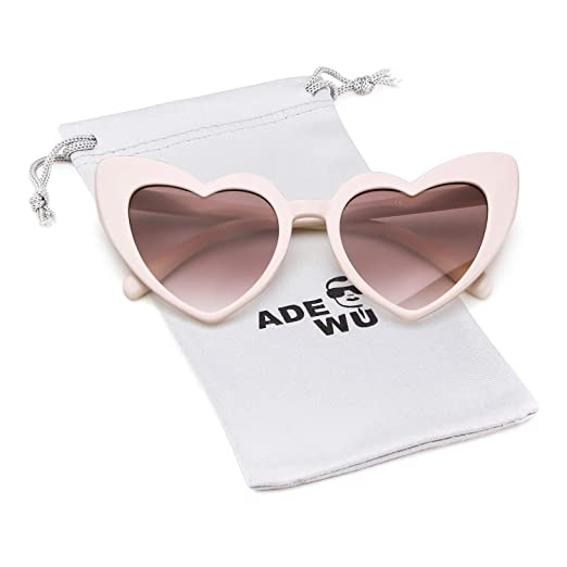 1b4d234e7e Amazon.com  Heart Sunglasse Vintage Retro Cat Eye Oversized ...