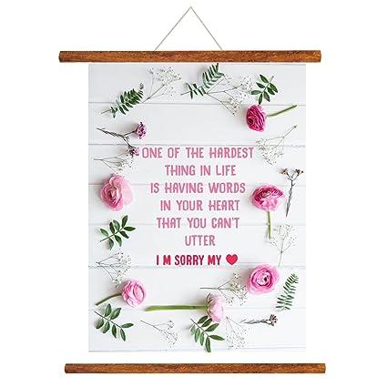 YaYa Cafe Floral I Am Sorry Love Scroll Greeting Card